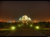 The Lotus temple at night
