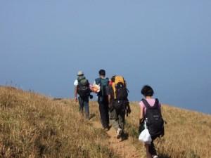 Group trekking