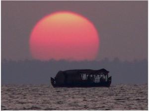 Sunset in Kumarakom