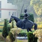 Ram Bagh garden with Maharaja Ranjit Singh panorama