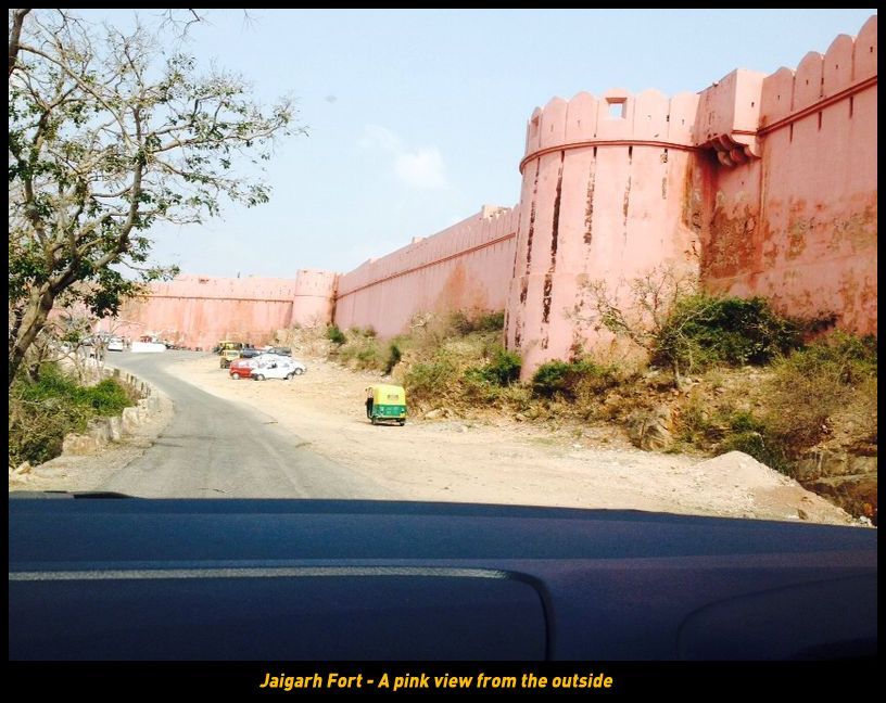 Jaigarh Fort - A pink view from the outside